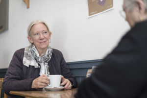 Home Carer with cup of tea