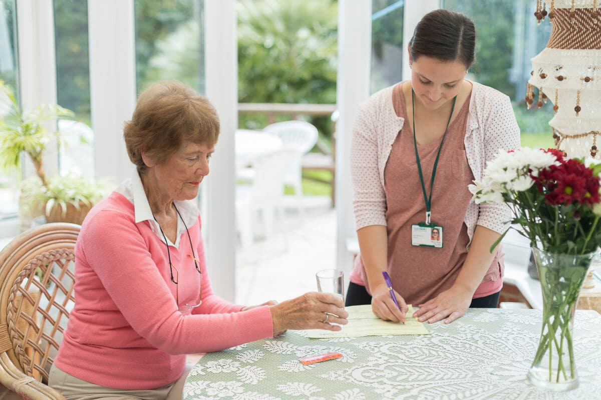 Domiciliary Carer supporting with Medication