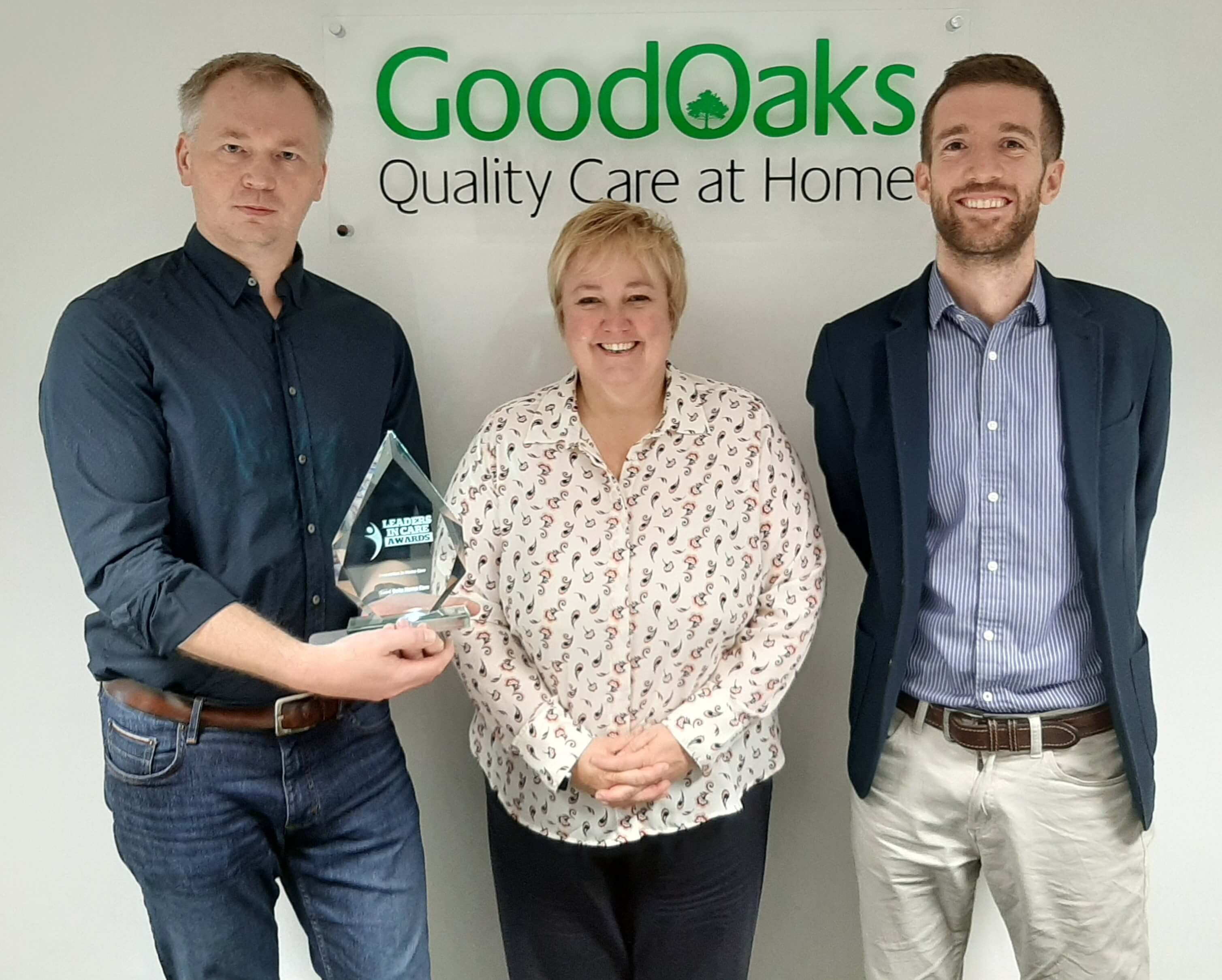 Darius Mitkus, Zoe Kelly and Ben Ashton of Good Oaks Home Care