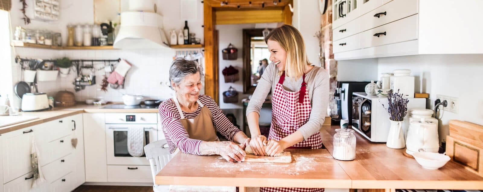 Home Carer with Home Care Client